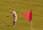 2007 Boyne Tournament of Champions winner Michael Harris of Troy plays his approach shot on the 16th hole of Boyne Mountains Alpine course.
