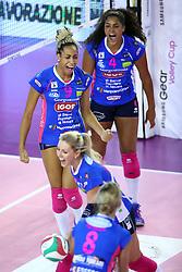 22-10-2016 ITA: Metalliche Montichiari - Igor Gorgonzola Novara, Montichiari<br /> Novara wint met 3-0 / Celeste Plak #4, Sara Bonifacio #9<br /> <br /> ***NETHERLANDS ONLY***