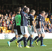 Dundee's Gary Harkins celebrates after scoring  - Motherwell v Dundee, SPFL Premiership at Fir Park<br /> <br />  - &copy; David Young - www.davidyoungphoto.co.uk - email: davidyoungphoto@gmail.com