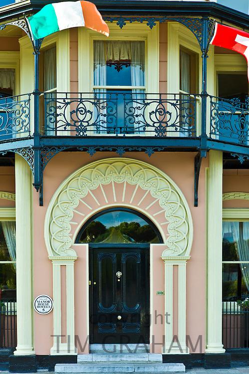 Elegant Georgian hotel front of Perryville House Hotel, Kinsale, County Cork, Ireland