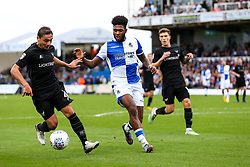 Ricardinho of Oxford United is challenged by Ellis Harrison of Bristol Rovers - Rogan/JMP - 14/10/2017 - FOOTBALL - Memorial Stadium - Bristol, England - Bristol Rovers v Oxford United - EFL Sky Bet League One.