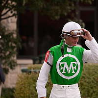 Jockey Calvin Borel at Keeneland during the 2009 Fall Meet. Borel has ridden three thoroughbreds to victory in the Kentucky Derby - Street Sense (2007), Mine That Bird (2009), and Super Saver (2010).