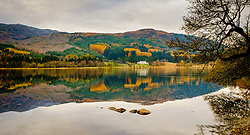 Autumn reflections on Loch Chon, Loch Lomond & The Trossachs National Park, Scotland<br /> <br /> (c) Andrew Wilson | Edinburgh Elite media