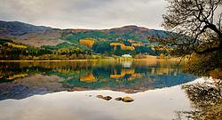 Autumn reflections on Loch Chon, Loch Lomond &amp; The Trossachs National Park, Scotland<br /> <br /> (c) Andrew Wilson | Edinburgh Elite media