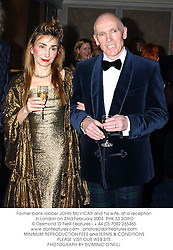 Former bank robber JOHN McVICAR and his wife, at a reception in London on 23rd February 2003.	PHK 33 2ORO