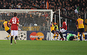 Juan of Roma celebrates the opening goal during the UEFA Champions League, Round of Last 16, Second Leg match between AS Roma and Arsenal at the Stadio Olimpico on March 11, 2009 in Rome, Italy.