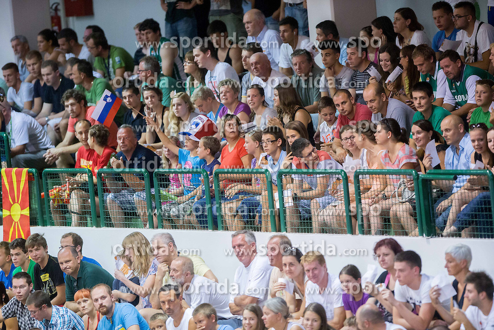 Spectators during friendly match between National teams of Slovenia and Republic of Macedonia for Eurobasket 2013 on July 28, 2013 in Litija, Slovenia. (Photo by Vid Ponikvar / Sportida.com)