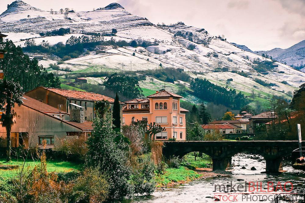 Lierganes village. Cantabria, Spain.