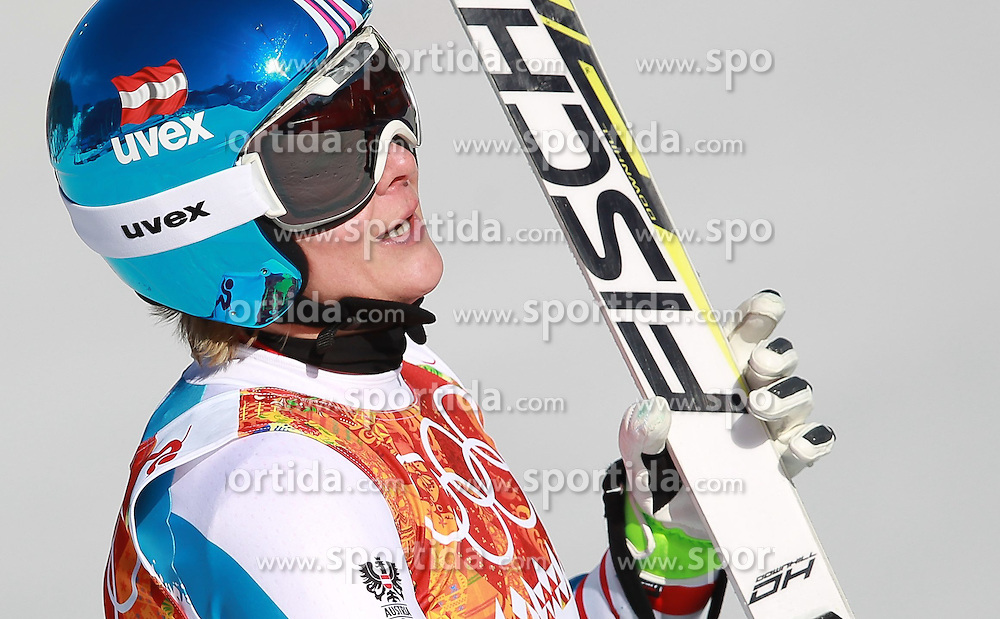 12.02.2014, Rosa Khutor Alpine Resort, Krasnaya Polyana, RUS, Sochi, 2014, Abfahrt, Damen, im Bild Nicole Hosp (AUT/9 Platz) // Nicole Hosp of Austria during the ladies downhill to the Olympic Winter Games 'Sochi 2014' at the Rosa Khutor Alpine Resort, Krasnaya Polyana, Russia on 2014/02/12. EXPA Pictures &copy; 2014, PhotoCredit: EXPA/ Stefan Matzke <br /> <br />  *****ATTENTION - OUT of GER*****
