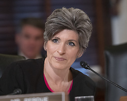 October 10, 2018 - Washington, District of Columbia, U.S. - United States Senator Joni Ernst (Republican of Iowa) questions witnesses during testimony before the US Senate Committee on Armed Services Subcommittee on Readiness and Management Support during a hearing titled ''US Air Force Readiness'' on Capitol Hill in Washington, DC on Wednesday, October 10, 2018  (Credit Image: © Ron Sachs/CNP via ZUMA Wire)