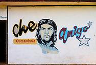 Image of Ernesto Che Guevara in Che in Playa Baracoa, Artemisa, Cuba.