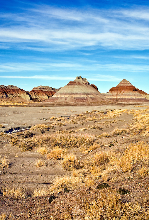 Desert photograph of the Painted Desert in Arizona.