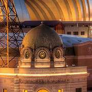 Close up of Mainstreet Theatre dome, downtown Kansas City, MO.