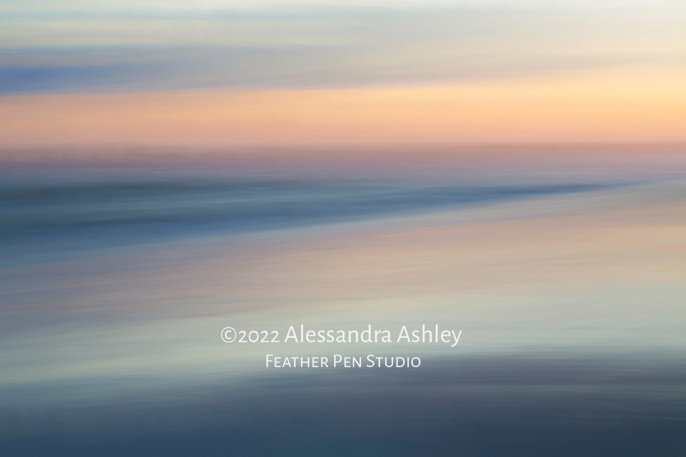Long exposure pan blur with painted effects, sunset, coastal South Carolina.