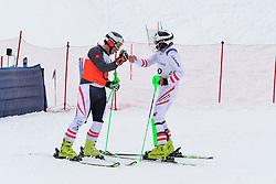 Super Combined and Super G, MORGENFURT Gernot Guide GMEINER Christoph Peter, B2, AUT at the WPAS_2019 Alpine Skiing World Championships, Kranjska Gora, Slovenia