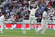 Ollie Pope of England tries to catch Shikhar Dhawan of India during the 3rd International Test Match 2018 match between England and India at Trent Bridge, West Bridgford, United Kingdon on 18 August 2018.