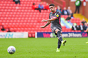 Leeds United midfielder Pablo Hernandez (19) passes the ball during the EFL Sky Bet Championship match between Barnsley and Leeds United at Oakwell, Barnsley, England on 15 September 2019.