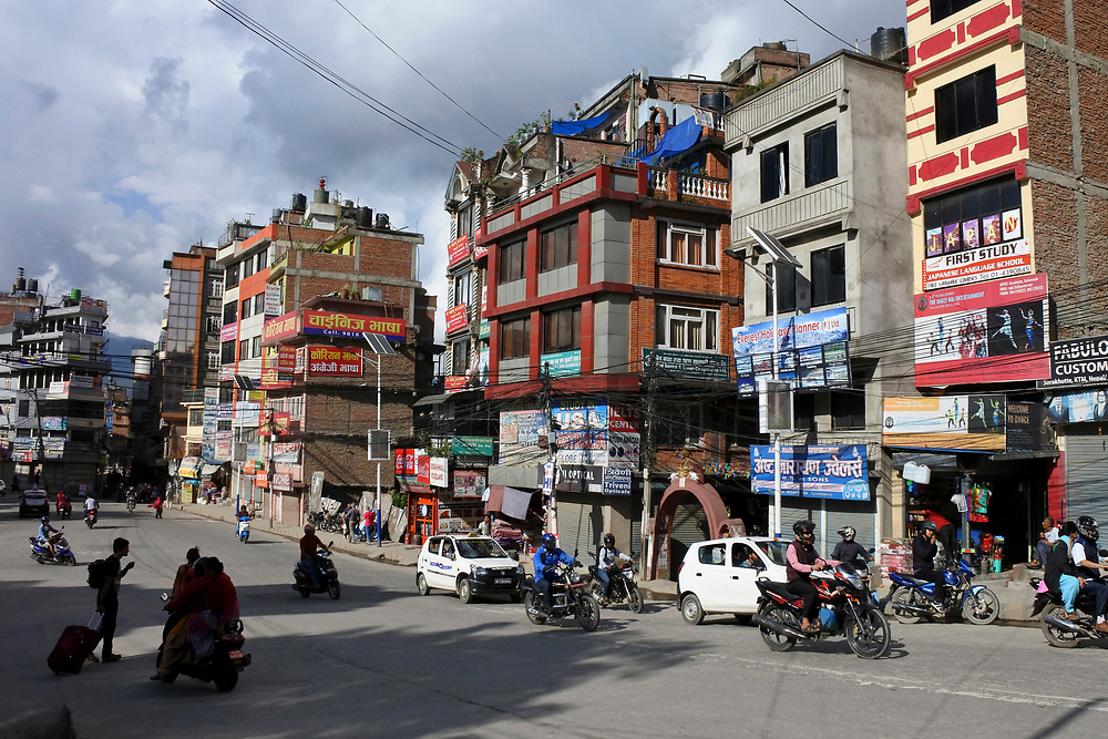 Main Road through Kathmandu