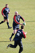 Picture by Andrew Tobin/Focus Images Ltd +44 7710 761829.08/02/2013.Dan Cole of England during Training at Pennyhill Park, Bagshot.