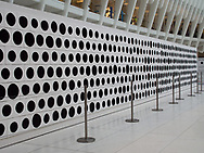 "With the instruction to paint a perfect, solid black dot, using only paint and brushes, 1612 people passing through the Oculus at the World Trade Center painted the 1612 dots which make up this installation. Of all 7.49 billion people in the world everyone paints with a different hand and everyone speaks with a different voice, yet ""everyone is created equal"" ""It is not our difference that divide us. It is our ability to recongnize, accept, and celebrate those difference"" (quote by Audre Lorde)"
