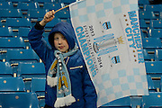 Manchester City fan during the Champions League Group D match between Manchester City and Sevilla at the Etihad Stadium, Manchester, England on 21 October 2015. Photo by Alan Franklin.