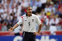 Photo: Chris Ratcliffe.<br /> England v Paraguay. Group B, FIFA World Cup 2006. 10/06/2006.<br /> Rio Ferdinand of England.