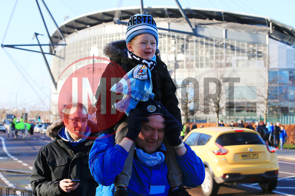 Fans arrive at the Etihad Stadium - Mandatory by-line: Matt McNulty/JMP - 06/01/2018 - FOOTBALL - Etihad Stadium - Manchester, England - Manchester City v Burnley - Emirates FA Cup Third Round