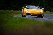 Lamborghini taking part in a drive with the Charlotte Area Ferrari Enthusiasts group meet up.
