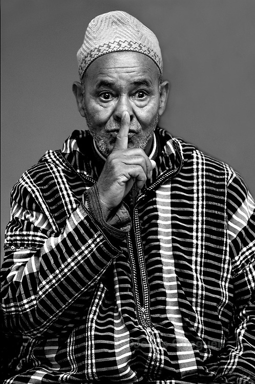 Hajj Ezzarghani, one of the last traditional story tellers in Marrakech - Morocco 2014