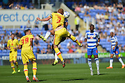 MK Dons Dean Lewington  during the Sky Bet Championship match between Reading and Milton Keynes Dons at the Madejski Stadium, Reading, England on 22 August 2015. Photo by Mark Davies.