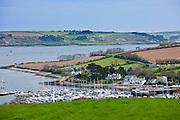 Yachting marina bay, Helford Estuary,  in Cornwall, UK