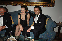 Centre & right, SARA BRAJOVIC and PRINCE CASIMIR ZU SAYN-WITTGENSTEIN-SAYN at a dinner hosted by the Italian Ambassador for the Buccellati family held at the Italian Embassy, Grosvenor Square, London on 28th March 2007.<br /><br />NON EXCLUSIVE - WORLD RIGHTS