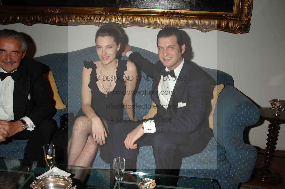 Centre &amp; right, SARA BRAJOVIC and PRINCE CASIMIR ZU SAYN-WITTGENSTEIN-SAYN at a dinner hosted by the Italian Ambassador for the Buccellati family held at the Italian Embassy, Grosvenor Square, London on 28th March 2007.<br />