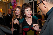 JANINE DI GIOVANNI ; CHARLOTTE FRASER, Kate Reardon and Michael Roberts host a party to celebrate the launch of Vanity Fair on Couture. The Ballroom, Moet Hennessy, 13 Grosvenor Crescent. London. 27 October 2010. -DO NOT ARCHIVE-© Copyright Photograph by Dafydd Jones. 248 Clapham Rd. London SW9 0PZ. Tel 0207 820 0771. www.dafjones.com.