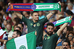 August 7, 2017 - Barcelona, Spain - Supporters of Chapecoense during the 2017 Joan Gamper Trophy football match between FC Barcelona and Chapecoense on August 7, 2017 at Camp Nou stadium in Barcelona, Spain. (Credit Image: © Manuel Blondeau via ZUMA Wire)