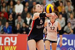 20180110 NED: CEV CUP Sliedrecht Sport - Beziers Angels VB: Sliedrecht<br />Florien Reesink (5) of Sliedrecht Sport <br />&copy;2018-FotoHoogendoorn.nl / Pim Waslander