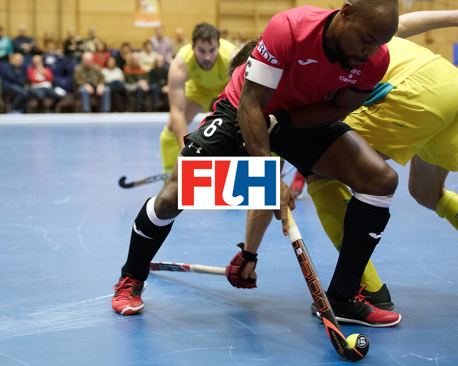 BERLIN - Indoor Hockey World Cup<br /> Trinidad &amp; Tobago - Australia<br /> foto: Solomon Eccles <br /> WORLDSPORTPICS COPYRIGHT FRANK UIJLENBROEK
