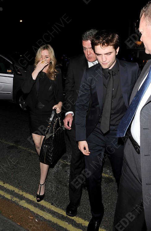 03.MAY.2011. LONDON<br /> <br /> ACTOR ROBERT PATTINSON AT THE HOMEHOUSE CLUB IN MAYFAIR IN CENTRAL LONDON AFTER ATTENDING THE UK PREMIERE OF THE FILM WATER FOR ELEPHANTS.<br /> <br /> BYLINE: EDBIMAGEARCHIVE.COM<br /> <br /> *THIS IMAGE IS STRICTLY FOR UK NEWSPAPERS AND MAGAZINES ONLY*<br /> *FOR WORLD WIDE SALES AND WEB USE PLEASE CONTACT EDBIMAGEARCHIVE - 0208 954 5968*