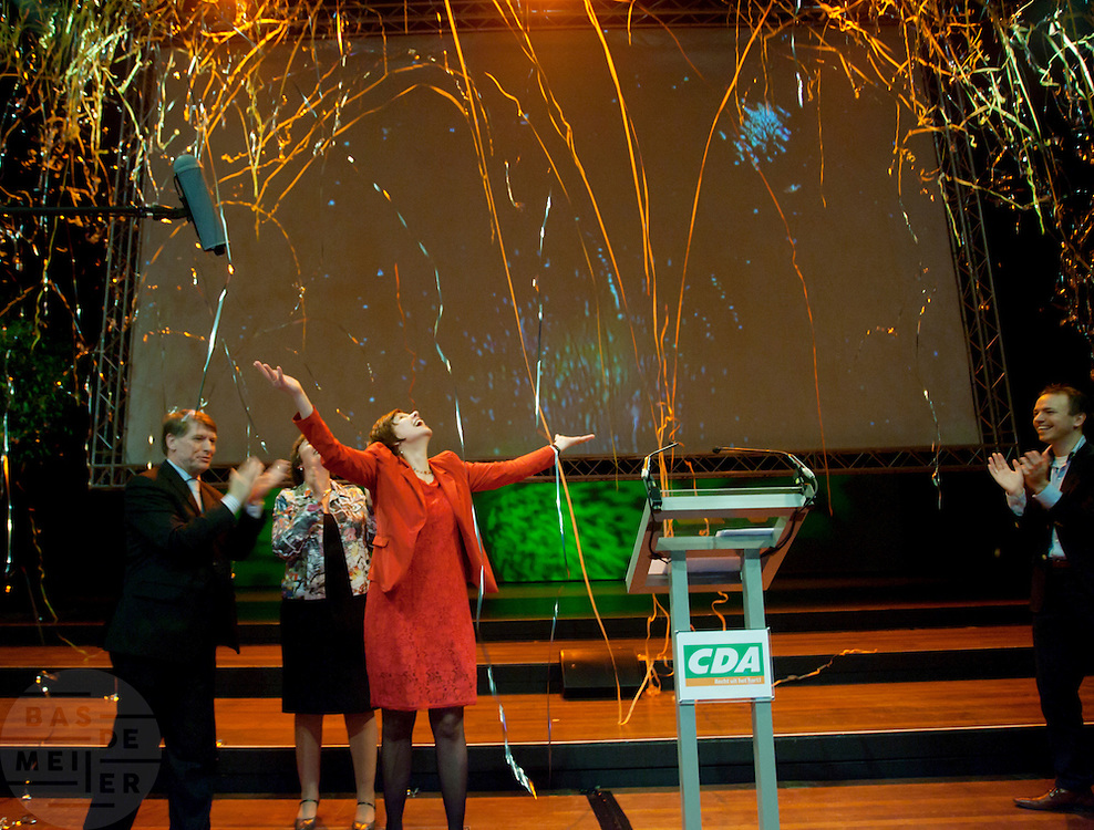 Ruth Peetoom is zojuist verkozen tot voorzitter van het CDA tijdens het partijcongres in Den Haag.<br /> <br /> Ruth Peetoom has been chosen as the new leader of the CDA (Christian Democrats).