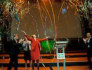Ruth Peetoom is zojuist verkozen tot voorzitter van het CDA tijdens het partijcongres in Den Haag.<br /> <br /> Ruth Peetoom has been chosen as the new leader of the CDA (Christian Democrats).