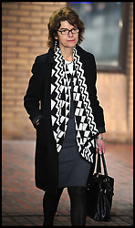 Vicky Pryce, the former wife of ex-MP Chris Huhne, leaves Southwark Crown Court, London,  after being found guilty of perverting the course of justice by taking speeding points on his behalf 10 years ago, Thursday March 7, 2013, Photo By Andrew Parsons / i-Images