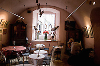 Inside Camelot Cafe in the Old Town in Krakow Poland