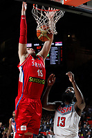 United States´s Harden (R) and Serbia´s Stimac during FIBA Basketball World Cup Spain 2014 final match between United States and Serbia at `Palacio de los deportes´ stadium in Madrid, Spain. September 14, 2014. (ALTERPHOTOSVictor Blanco)