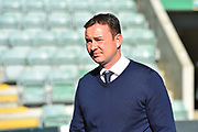Plymouth Argyle manager Derek Adams before the EFL Sky Bet League 1 match between Plymouth Argyle and Burton Albion at Home Park, Plymouth, England on 20 October 2018.