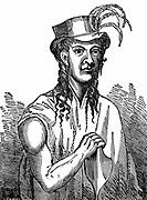 Friday October Christian, son of Fletcher Christian (c1764-c1794) ringleader of the mutiny of 1789 against Captain Bligh on 'HMS Bounty'. Woodcut 1833.