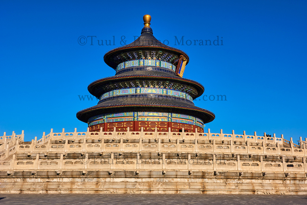 Chine, Pékin (Beijing), Temple du Ciel classé Patrimoine Mondial de l'UNESCO // China, Beijing, Temple of Heaven, Unesco world heritage