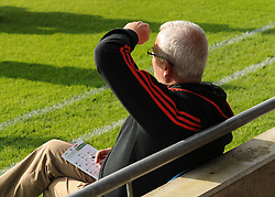 Keeping an eye on the Stats&hellip;. a member of the  Mayo football backroom team keeping up to speed with match program to hand.<br />