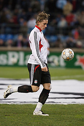 MARSEILLE, FRANCE - Tuesday, December 11, 2007: Liverpool's Fernando Torres warms-up before the final UEFA Champions League Group A match against Olympique de Marseille at the Stade Velodrome. (Photo by David Rawcliffe/Propaganda)