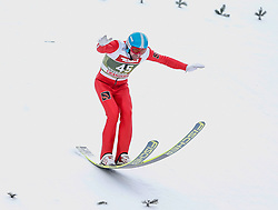 03.01.2015, Bergisel Schanze, Innsbruck, AUT, FIS Ski Sprung Weltcup, 63. Vierschanzentournee, Training, im Bild Dimitry Vassiliev (RUS) // Dimitry Vassiliev of Russia in action during Trial Jump of 63 rd Four Hills Tournament of FIS Ski Jumping World Cup at the Bergisel Schanze, Innsbruck, Austria on 2015/01/03. EXPA Pictures © 2015, PhotoCredit: EXPA/ Peter Rinderer
