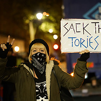 The People's Assembly Against Austerity deliver 'tons of food' to the outside Downing Street